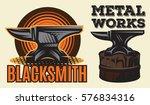 set of vintage colored... | Shutterstock .eps vector #576834316