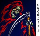 the grim reaper. scary horror... | Shutterstock .eps vector #576844225