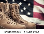 american military boots  | Shutterstock . vector #576851965