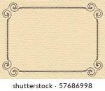 paper texture frame | Shutterstock . vector #57686998