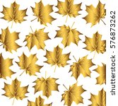 Golden Pattern Maple Leaves...