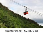 Aerial Tramway Riding Up The...
