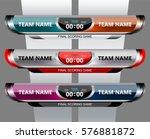 scoreboard broadcast graphic... | Shutterstock .eps vector #576881872
