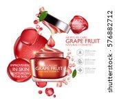 grapefruit serum moisture skin... | Shutterstock .eps vector #576882712