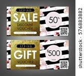 gift certificate  voucher ...   Shutterstock .eps vector #576883882