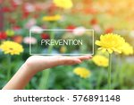 prevention word on the white... | Shutterstock . vector #576891148