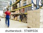 long stack arrangement of goods ... | Shutterstock . vector #57689326
