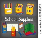 school supplies for... | Shutterstock .eps vector #576893992