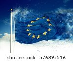 Small photo of Scattering flag of European Union