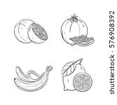 collection set of hand drawn... | Shutterstock .eps vector #576908392