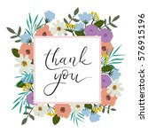 thank you hand lettering card.... | Shutterstock .eps vector #576915196