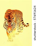 tiger on the prowl | Shutterstock . vector #57691624