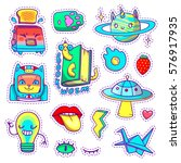 cool patch badges and pins in... | Shutterstock .eps vector #576917935