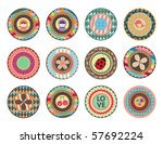 scrapbooking elements | Shutterstock .eps vector #57692224