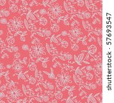 pink floral seamless pattern | Shutterstock .eps vector #57693547