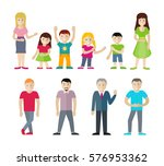 people cartoon characters set....   Shutterstock . vector #576953362