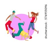 street dance concept web banner.