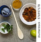 white beans in tomato sauce... | Shutterstock . vector #576957178