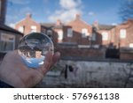 glass ball display houses  ... | Shutterstock . vector #576961138