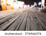 Boardwalk At Night With Glowin...