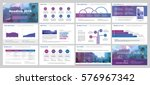 purple and blue elements for...