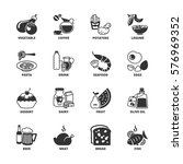 icon set about food and drink | Shutterstock .eps vector #576969352