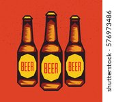 vintage craft beer bottle.... | Shutterstock .eps vector #576973486