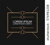 crisp modern banner element....   Shutterstock .eps vector #576981208