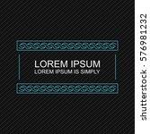 crisp modern banner element.... | Shutterstock .eps vector #576981232