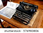 Antique Typewriter. Vintage...