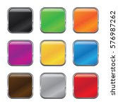 set of glossy button icons for... | Shutterstock .eps vector #576987262