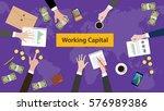 working capital concept... | Shutterstock .eps vector #576989386