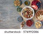 paleo style breakfast  gluten...   Shutterstock . vector #576992086