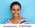 portrait of happy young black... | Shutterstock . vector #576995362