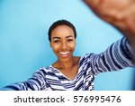 close up portrait of smiling... | Shutterstock . vector #576995476