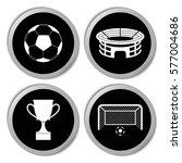 football icons   vector... | Shutterstock .eps vector #577004686