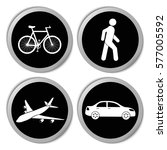 transportation icons   vector... | Shutterstock .eps vector #577005592