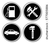 transportation icons  car... | Shutterstock .eps vector #577005886
