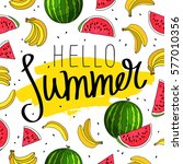 hello summer. the trend... | Shutterstock .eps vector #577010356