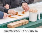 Maple Taffy On Snow At The...