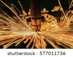 spot nut  machine is welding... | Shutterstock . vector #577011736