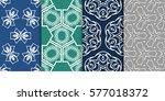 seamless set floral pattern.... | Shutterstock .eps vector #577018372