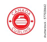 a canadian curling crest in... | Shutterstock .eps vector #577028662