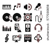 sound  music icon set | Shutterstock .eps vector #577030858