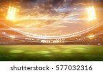 stadium in lights and flashes... | Shutterstock . vector #577032316