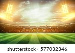 lights at night and stadium 3d | Shutterstock . vector #577032346