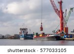 port of amsterdam  noord...   Shutterstock . vector #577033105