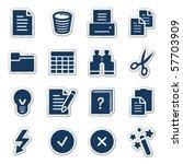 document web icons  navy...
