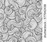 sea waves seamless pattern. for ... | Shutterstock .eps vector #577042438