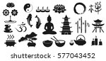 zen icons  vector illustration...